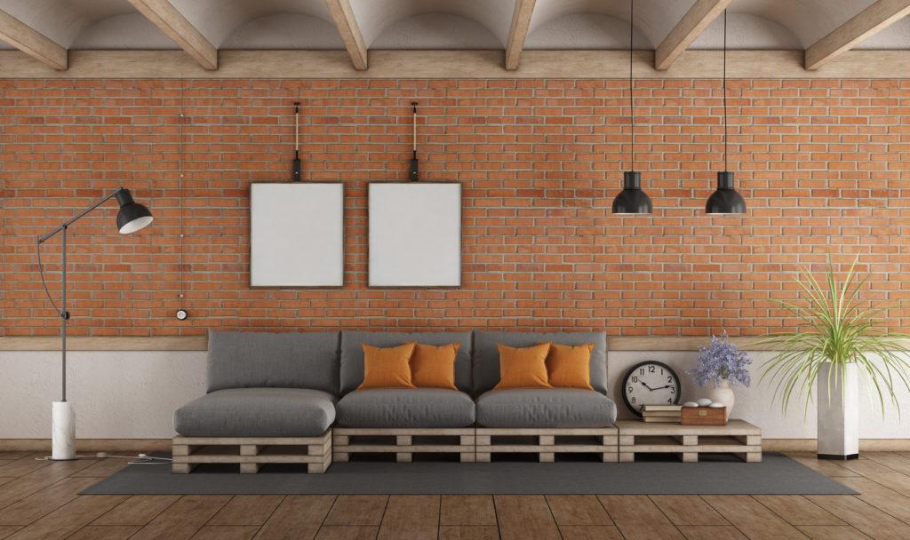 Muebles de patio con palets y gomaespuma